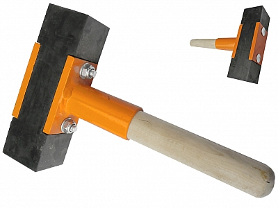 BELLE młotek gumowy brukarski krótki 2,5kg 200mm