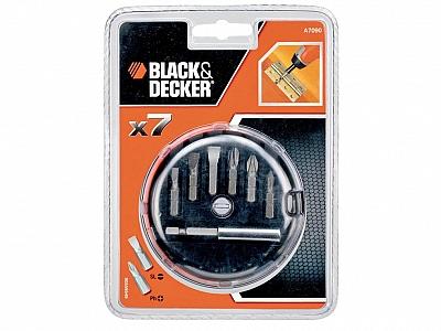 BLACK&DECKER A7090 zestaw wkrętaki bity 7szt