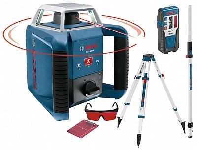 BOSCH GRL 400 H laser obrotowy + LR1 statyw łata