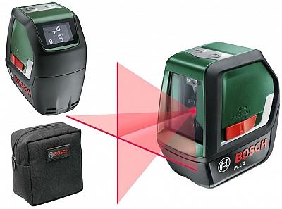 BOSCH PLL 2 laser krzyżowy LCD 10m