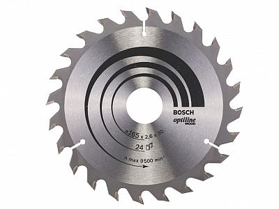 BOSCH tarcza piła tarczowa drewno 165mm/24z/30mm