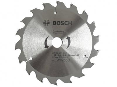 BOSCH tarcza piła tarczowa drewno 160mm/18z/20mm