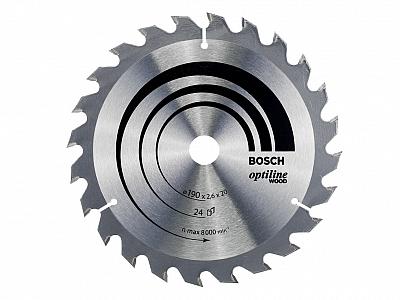BOSCH tarcza piła tarczowa drewno 190mm/24z/16mm