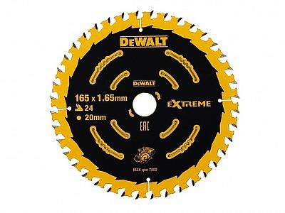 DeWALT DT10624 tarcza piła drewna 165mm/24z/20mm