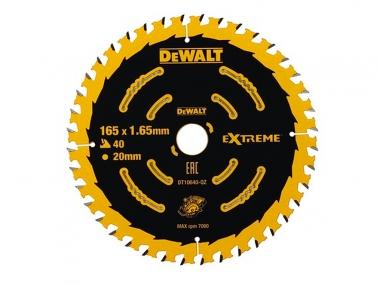 DeWALT DT10640 tarcza piła drewna 165mm/40z/20mm