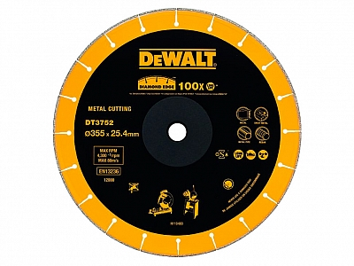 DEWALT DT3752 tarcza diamentowa do metalu 355mm
