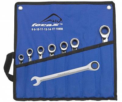 FERAX zestaw kluczy grzechotki zapadkowe  8szt.