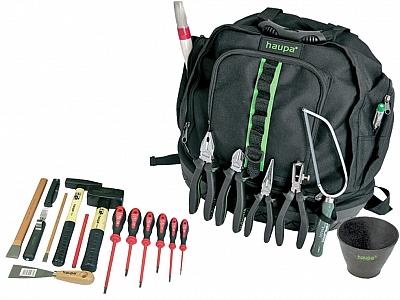 HAUPA plecak na narzędzia zestaw 22-elem.