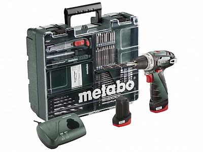 METABO PowerMaxx BS wkrętarka 34Nm 2,0Ah + 63szt.