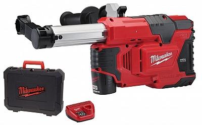MILWAUKEE M12DE-201C odsysacz pyłu młotowiertarka