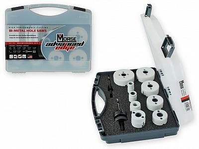 MORSE MK7700G zestaw otwornice BIMETAL HSS 9 sztuk
