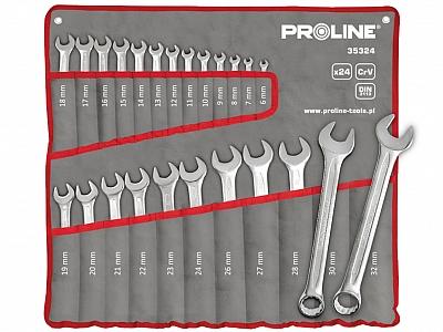 PROLINE 35324 klucze płasko-oczkowe 24szt
