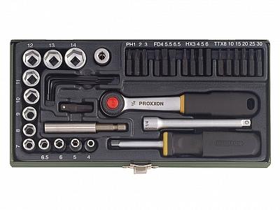 PROXXON 23070 klucze nasadowe grzechotka x39 zestaw