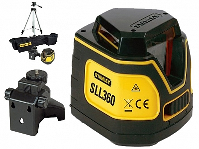 STANLEY SLL360 laser krzyżowy 10m statyw