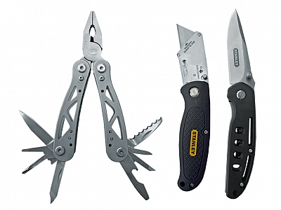 STANLEY szczypce wielofunkcyjne + 2 noże