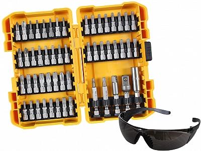 DeWALT DT71550 bity nasadki okulary 53 elementy