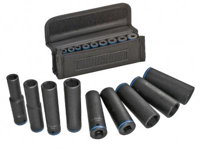 BOSCH zestaw nasadki udarowe klucze 1/4'' 50mm x9