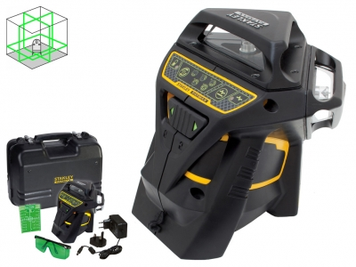 STANLEY X3G laser obrotowy ZIELONY 35m 3x 360°