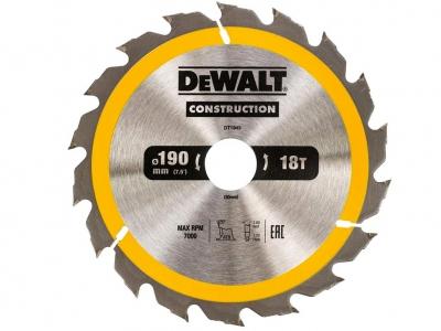 DeWALT DT1943 piła tarczowa do drewna 190mm/18z/30mm