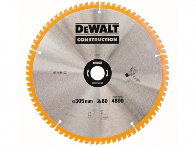DeWALT DT1184 piła tarczowa do drewna 305mm/80z/30mm