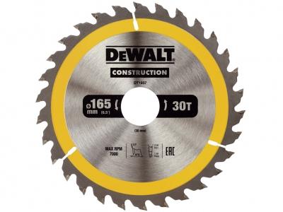DeWALT DT1937 piła tarczowa do drewna 165mm/30z/30mm