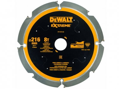 DeWALT DT1473 piła tarczowa do laminatu cementu 216mm/8z/30mm