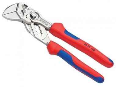 KNIPEX 8605180 szczypce płaskie nastawne klucz 2w1 180mm
