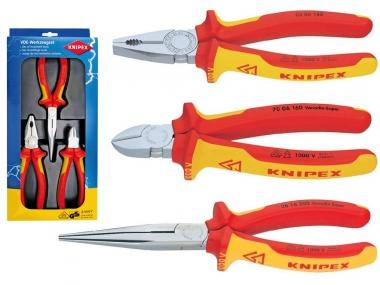 KNIPEX 002012 zestaw szczypce VDE x3