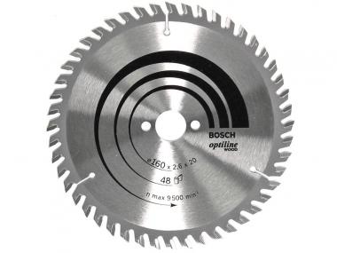 BOSCH tarcza piła tarczowa drewno 160mm/48z/20mm