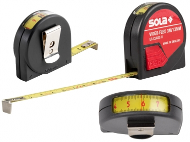 SOLA Video-Flex miara taśma stalowa zwijana 3m