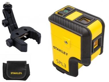 STANLEY SPL3 laser 3 punktowy ZIELONY + uchwyt