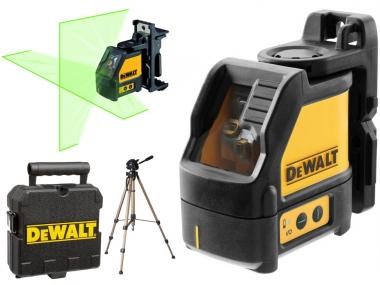 DEWALT DW088CG laser krzyżowy zielony + statyw