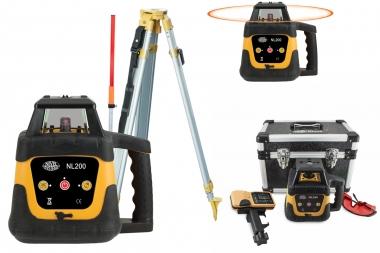 NIVEL SYSTEM NL200 laser obrotowy CZERWONY statyw łata