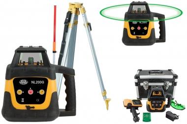 NIVEL SYSTEM NL200G laser obrotowy ZIELONY statyw łata