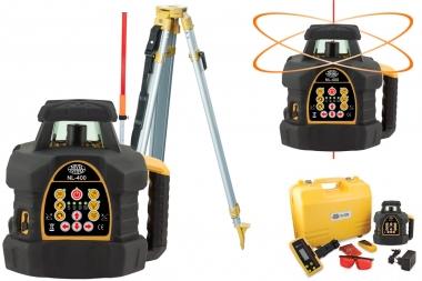 NIVEL SYSTEM NL400 laser obrotowy CZERWONY statyw łata