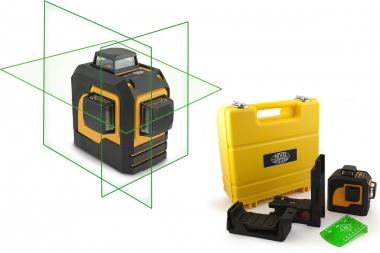 NIVEL SYSTEM CL3D-G laser krzyżowy ZIELONY 3x360°
