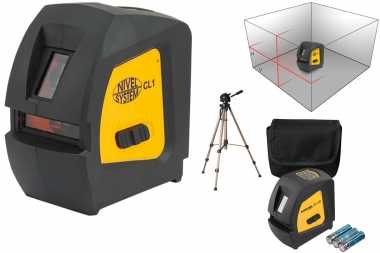 NIVEL SYSTEM CL1 laser krzyżowy statyw CZERWONY