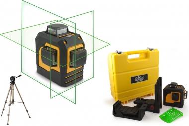 NIVEL SYSTEM CL3D-G laser krzyżowy ZIELONY 3x360° statyw