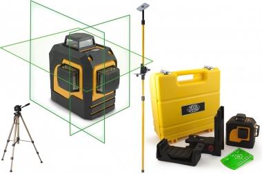 NIVEL SYSTEM CL3D-G laser krzyżowy ZIELONY 3x360° statyw tyczka