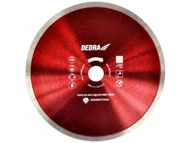 DEDRA H1064E tarcza diamentowa do gresu 180mm / 25,4mm
