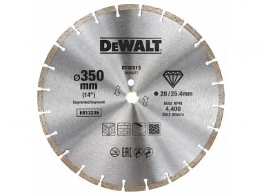 DEWALT DT40213 tarcza diamentowa do betonu 350mm / 20/25,4 mm