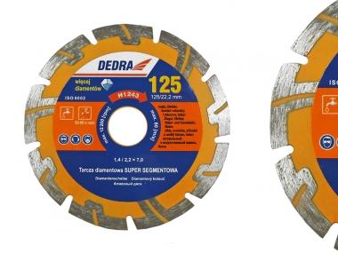 DEDRA H1243 tarcza diamentowa segment 125mm