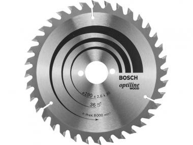 BOSCH tarcza piła tarczowa drewno 190mm/36z/30mm