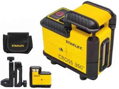 STANLEY CROSS 360 laser obrotowy CZERWONY