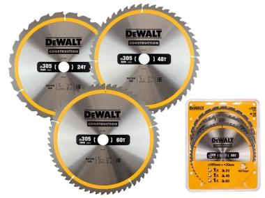 DeWALT DT1964 zestaw tarcza piła drewno 305/30mm 3 sztuki