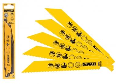 DeWALT DT2345 brzeszczot do plastiku piła szablasta 152mm 5 sztuk