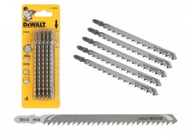 DeWALT DT2051 brzeszczoty drewno 132mm HCS 5 szt