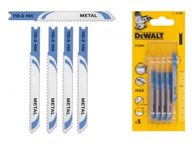 DeWALT DT2063 brzeszczoty metal 70mm HSS 5 szt