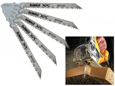 DeWALT DT2211 brzeszczoty drewno HCS 100mm 5 sztuk