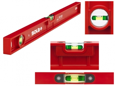 SOLA PF60 poziomica ABS plastic 2 libelle 60cm